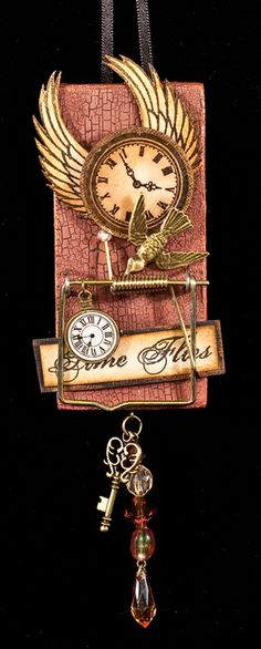 Time Flies ( Altered Art Mouse Trap)