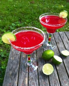 Watermelon Margaritas  Ingredients 1 cup watermelon juice (watermelon pureed and strained) Juice from 1/2 lime 1 ounce silver tequila 1/2 ounce Triple Sec 5 ice cubes Salt, optional  Directions Add all ingredients to a cocktail shaker. Shake until thoroughly mixed. Pour into a margarita glass.