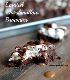 Loaded Marshmallow Brownies | lemonsforlulu.com