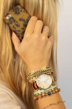 arm party inspiration: tortoise with a twist