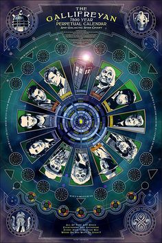 Doctor Who Gallifreyan Calendar Limited Edition Poster $29.99