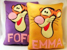 Tigger  Winnie the Pooh  Felt cushion by TheCraftyButtonUK on Etsy, £10.00