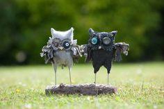 harris tweed owls