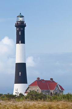 Fire Island Lighthouse, Long Island, NY Spent a week with a friend who had a summer home on this island when we both were working for Good Housekeeping. @Nina Gonzalez Gonzalez Antenucci, as you out there? (-: