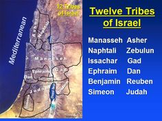 The 12 Tribes of Israel and Their Meanings   twelve tribes of israel @ ebible teacher com 05 2007