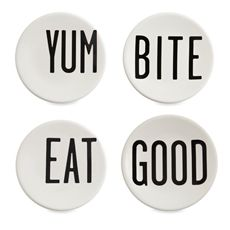 every meal would be a feel-good moment with the cutie pie plates. From Diane Keaton's new collection.