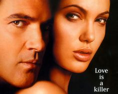 Antonio Banderas and Angelina Jolie in Original Sin. I still prefer Brad+Angelina and Antonio+Catherine but these two had chemistry in the film. :)