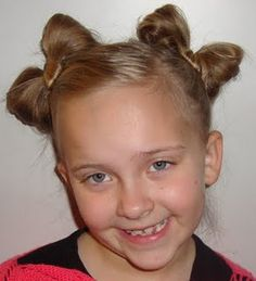 """Hair """"bows"""" for your little (or not so little) girl. Easy to do. #Hair"""