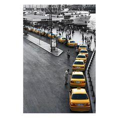 Taxi photography  gray and yellow  decor istanbul by gonulk, $50.00 #HomeDecor #WallDecor #WallArt #photography  #Art #Etsy #Print #ArtPrint #HomeDecorating #photo #artprint #roominteriordecoration #blackandwhite