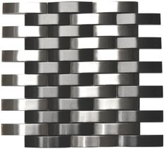 Bridge Pattern Silver And Black Stainless Steel Mosaic Tile