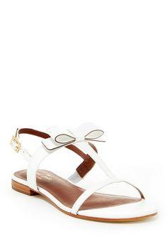 White Bow Sandals #wedding #fashion #white #bow #shoes