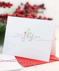 Peace Joy Love stamped card from Damask Love