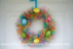 Fun Easter tulle wreath