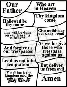"""""""Lord's Prayer for Children"""" Free Lord's Prayer Coloring Pages, national day of prayer, vbs, and teaching children the Lord's Prayer."""
