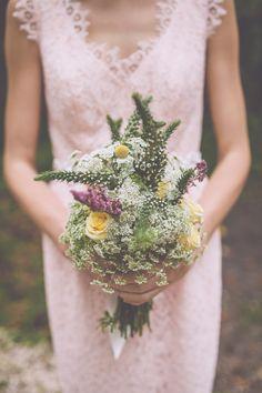 wildflower inspired bouquet, photo by Mackensey Alexander http://ruffledblog.com/the-notwedding-savannah #weddingbouquet #flowers