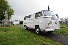 """""""Leichenwagen 'built by a firm called Fritz Freckinger in Augsburg Germany in 1972, is one of the few that is still used today as a hearse mti overlijden, funer vehicl, volkswagen buss, vw microbus, volkswagen buse, vreemd volkswagen"""