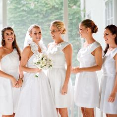 Paint nails white for white bridesmaid dresses!
