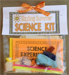 Science kits for end of the year gifts.