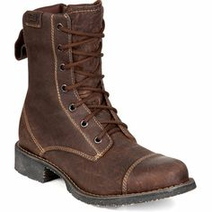 "Durango City: Women's 7"" Brown Leather Lacer Boots with Inside Zipper - Style #RD0524 - Durango Boot Company"