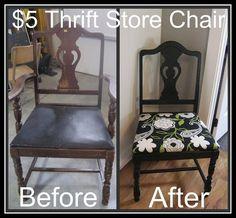 Thrift store chair redo