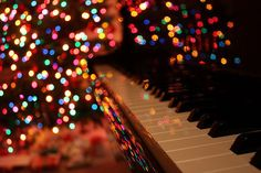 piano and bright lights