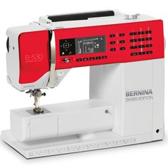 The BERNINA 530 Swiss Edition will wow you with its wide range of functions and features – particularly its BSR functionality – as well as its wealth of pre-programmed stitches. The BERNINA Stitch Regulator (BSR foot) can be added as an accessory at any time [Promotional Pin]