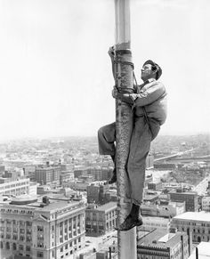 Flagpole painter Edgar Russeell of Chester, Illinios, had a bird's-eye view of downtown Omaha while he worked in 1957. THE WORLD-HERALD  Like anything you see? Contact Michelle at michelle.gullett@owh.com or call 402-444-1014 to purchase prints.