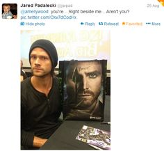 Jared Padalecki and Stephen Amell on Twitter