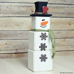 The Wood Connection - Cube Snowman , $11.95 (http://thewoodconnection.com/cube-snowman/)
