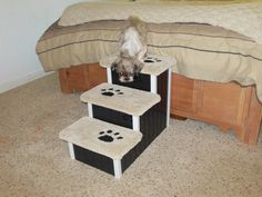 """Enter Pinterestdiscount10 for 10% off! Dog/Pet Steps, Dog Stairs, 18"""" High. Pick any color to match your decor. Help ease and prevent arthritis!"""