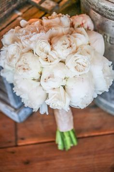peony bouquet by rodarte floral design http://www.weddingchicks.com/2013/10/03/vintage-outdoor-wedding/