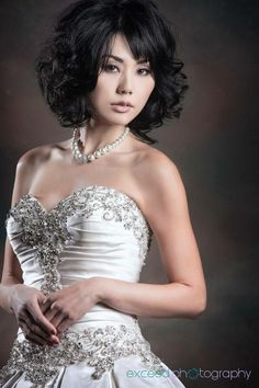Eriko from our shoot with Bridal Spectacular - Las Vegas wedding hair and makeup by Amelia C & Co - Photography by http://exceedphotography.com/