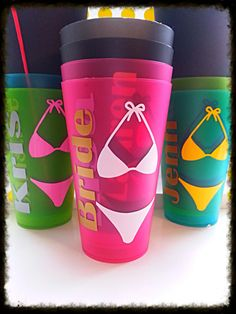 Personalized custom Bachelorette party tumbler by Customforless, $30.00