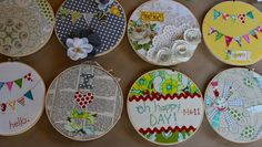 Inspiration - different techniques for embroidery hoop art