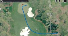 Aerial Photo of how much Bubba Watson Bent the Ball at the Masters