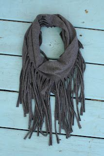 how to make a fringe scarf from t-shirt