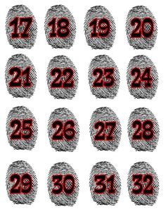 Mystery/Detective Themed Finger Print Student Numbers