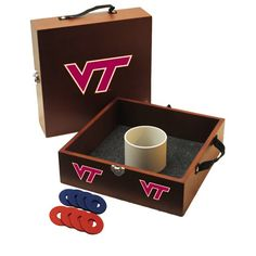 Virginia Tech Washer Toss Game Set indianapolis colts, tailgat, lawn games, denver broncos, toss game, houston texan, washertoss, washer toss, bean bags