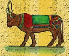 Apis the bull - An Egyptian deity worshipped in the Memphis region well into late 300 AD during Greek and Roman era