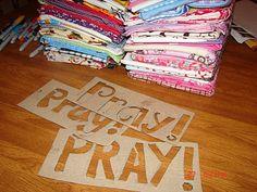 Prayer Pillowcases - Baptism gift or Activity Day idea. A girl and a glue gun