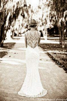 15 Lace Back Wedding Dresses & Gowns | Confetti Daydreams