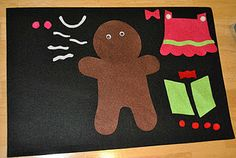 Gingerbread dress-up on the flannel board