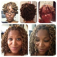 Two in one styling with the wrap-a-loc tool. #natural hair #locs