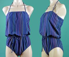 Womens One Piece Swimsuit / Vintage 1970s 70s by rockstreetvintage, $58.00