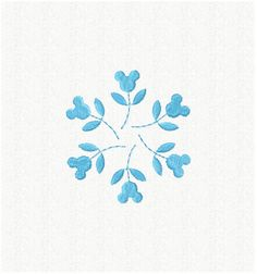 Mickey Mouse Snowflake Embroidery Design  INSTANT by SewCraftey, $2.99