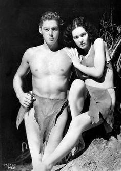 Tarzan (Johnny Weissmuller) & Jane Parker (Maureen O'Sullivan) / Tarzan and His Mate