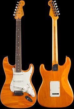 Fender Custom Shop Custom Deluxe Slab Stratocaster® Sunset Orange Transparent (505)