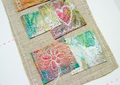handmade paper towel card