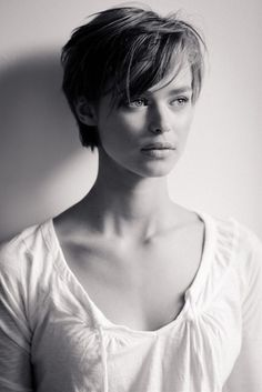 Long pixie cut with bangs. Mom?