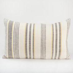 Gray/Yellow Herringbone Lumbar Throw Pillow $19.99 - world market